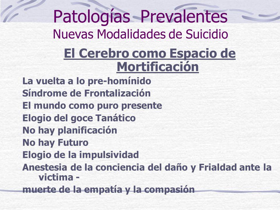 Patologías Prevalentes Nuevas Modalidades de Suicidio