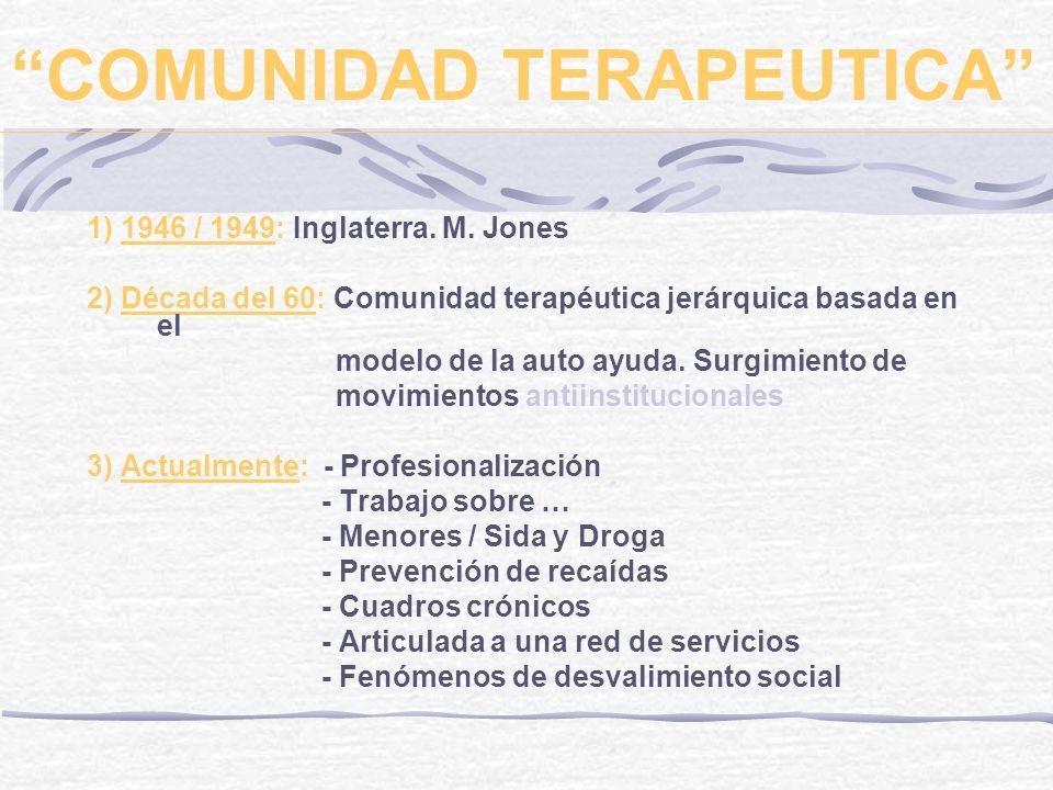 COMUNIDAD TERAPEUTICA