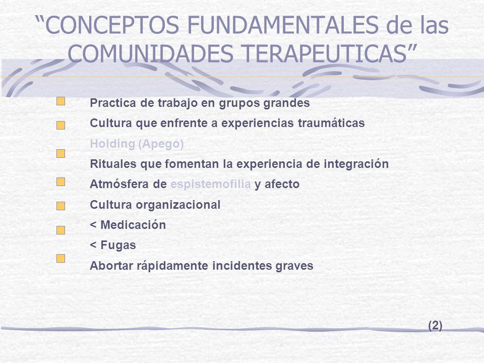 CONCEPTOS FUNDAMENTALES de las COMUNIDADES TERAPEUTICAS