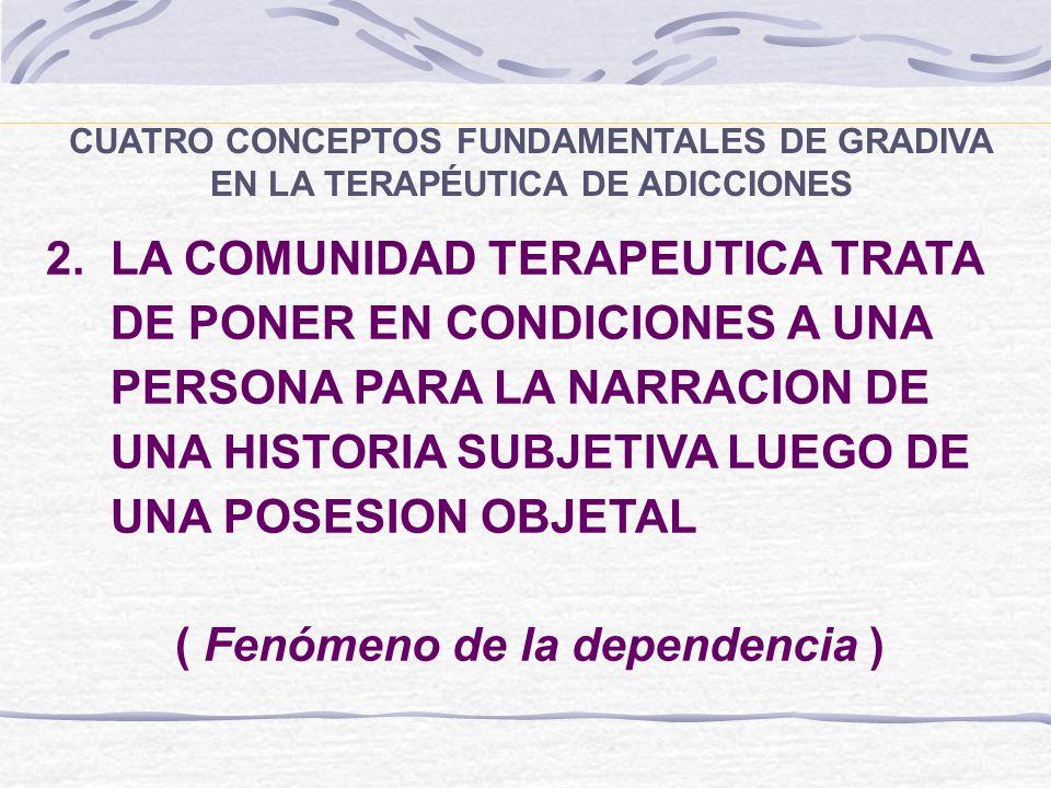 2. LA COMUNIDAD TERAPEUTICA TRATA DE PONER EN CONDICIONES A UNA