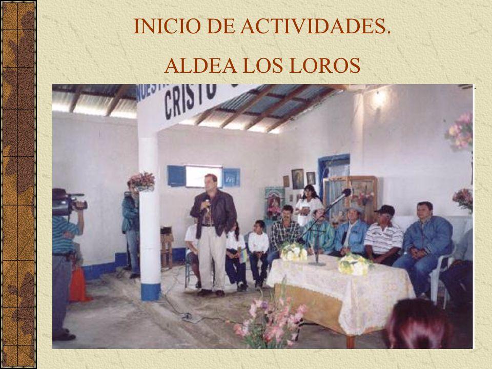 INICIO DE ACTIVIDADES. ALDEA LOS LOROS