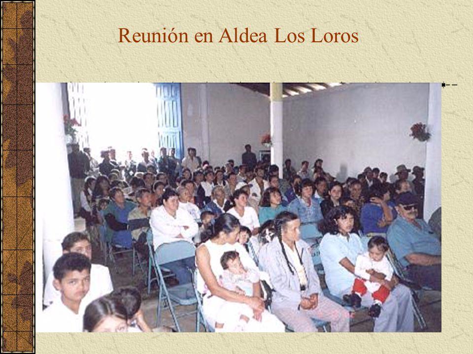 Reunión en Aldea Los Loros