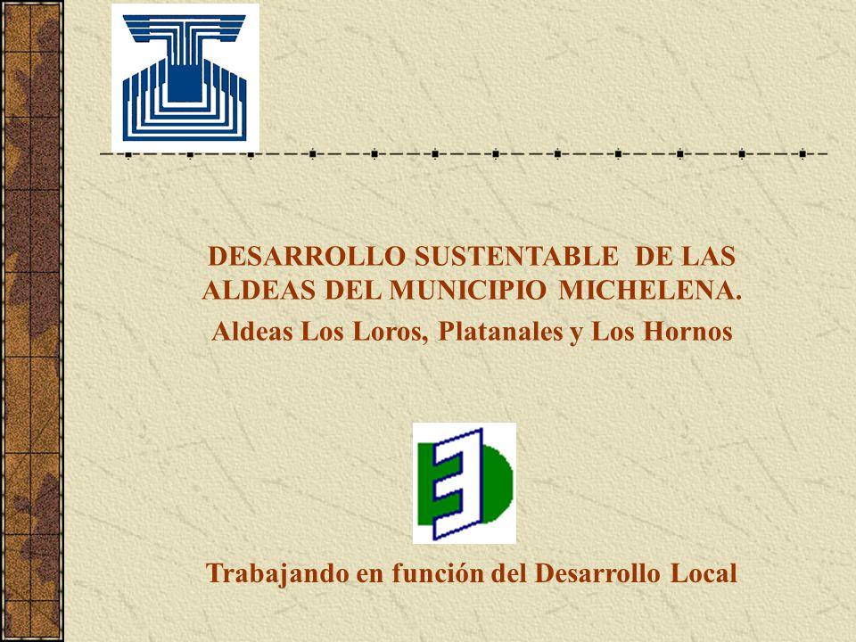 DESARROLLO SUSTENTABLE DE LAS ALDEAS DEL MUNICIPIO MICHELENA.