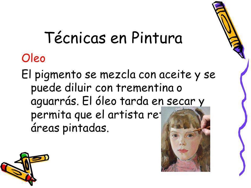 Técnicas en Pintura Oleo
