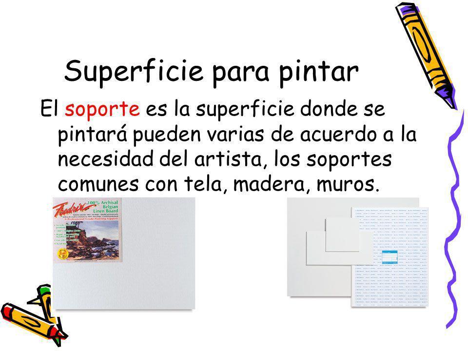 Superficie para pintar