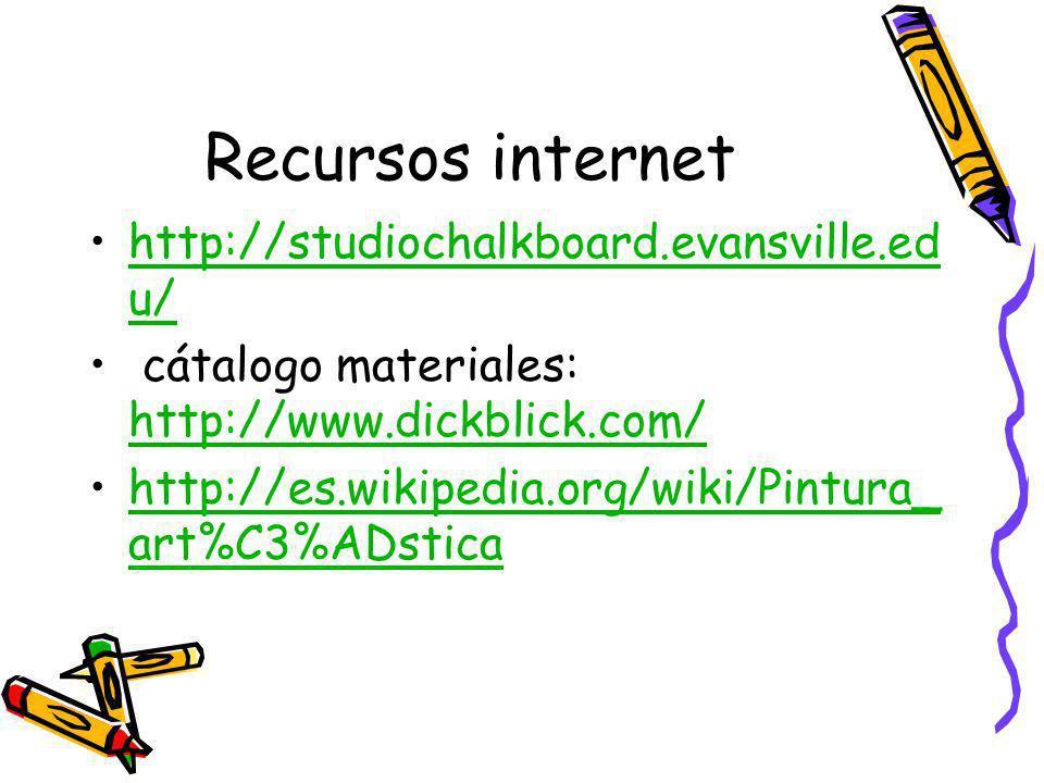 Recursos internet http://studiochalkboard.evansville.edu/