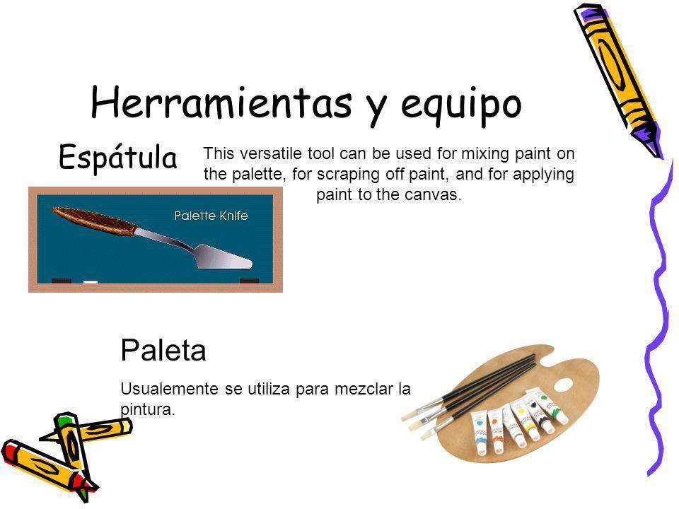 Herramientas y equipo Espátula Paleta