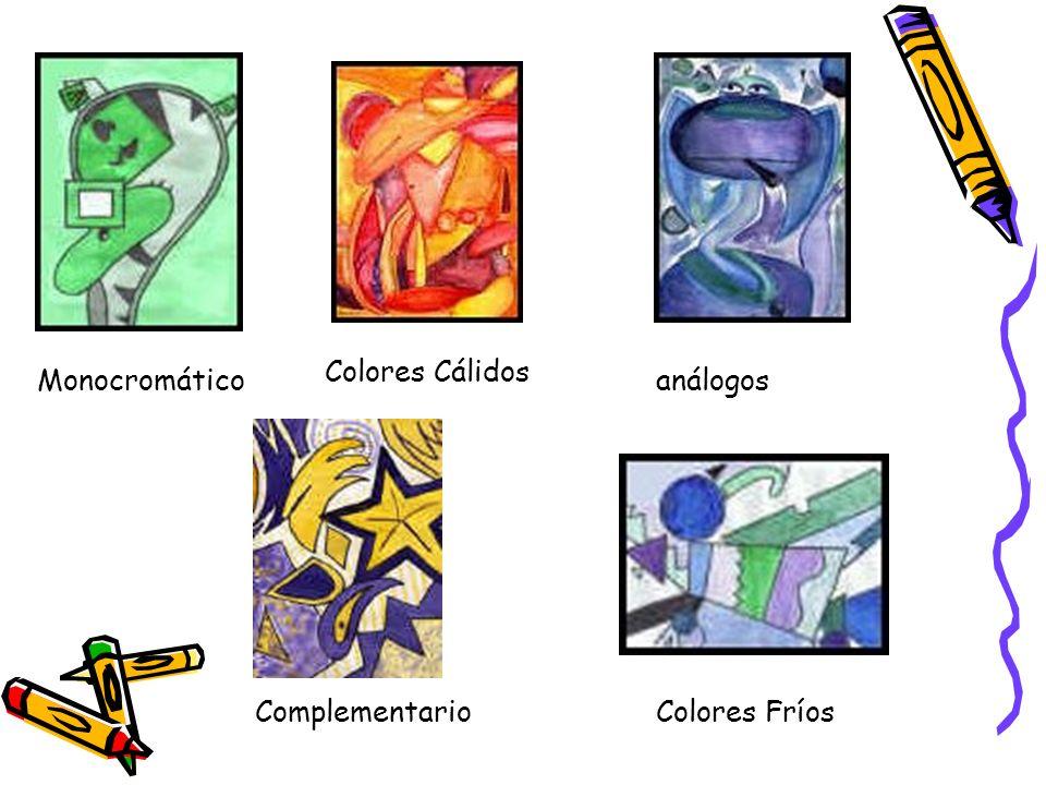 Colores Cálidos Monocromático análogos Complementario Colores Fríos
