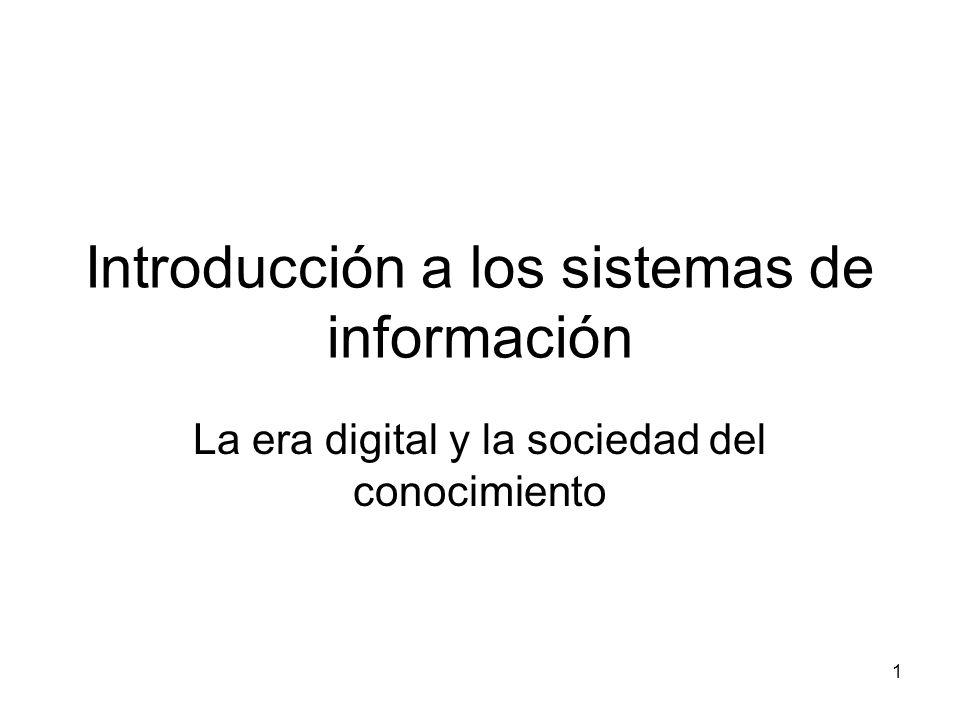 Introducción a los sistemas de información