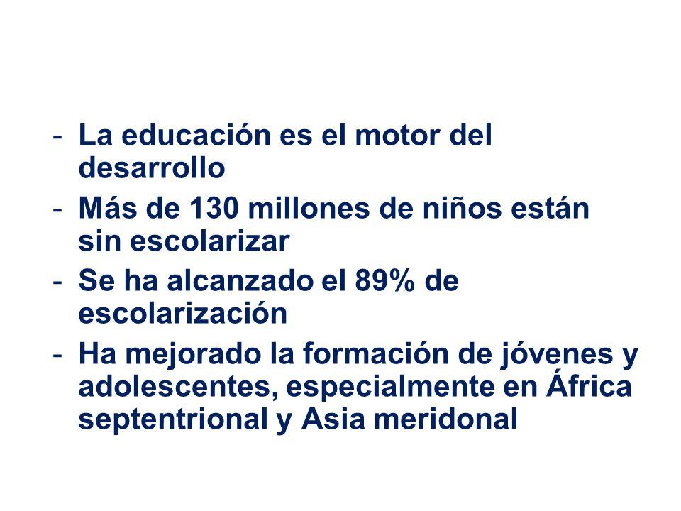 La educación es el motor del desarrollo