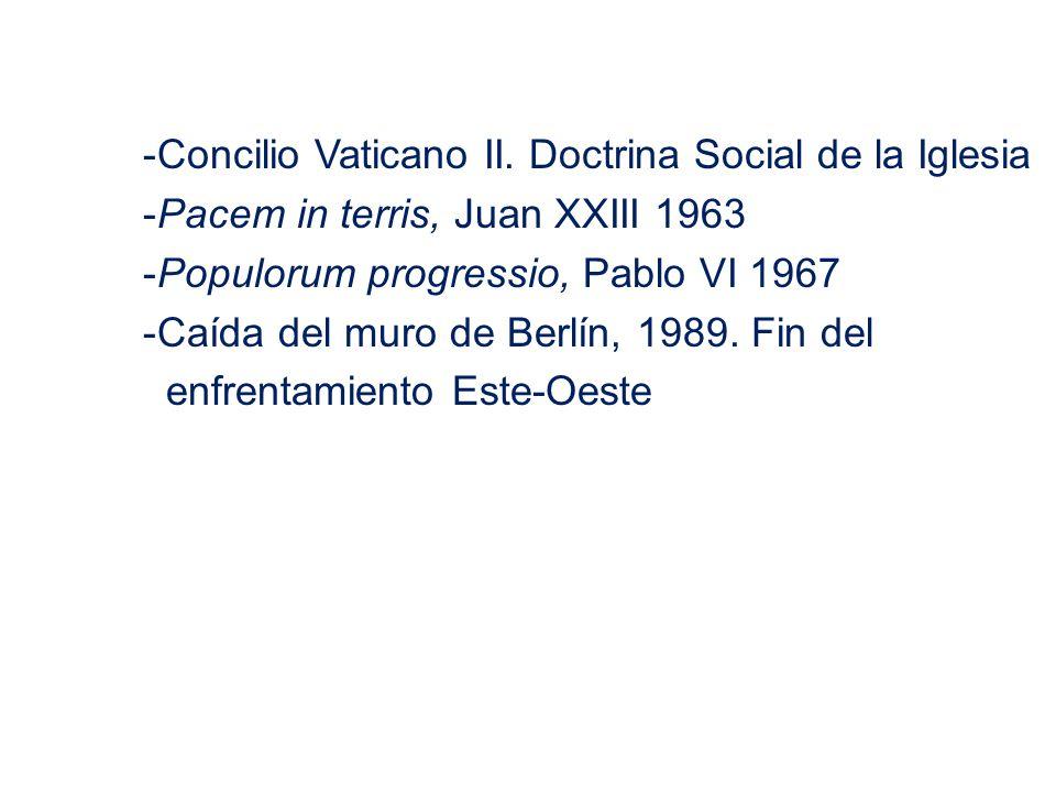 Concilio Vaticano II. Doctrina Social de la Iglesia