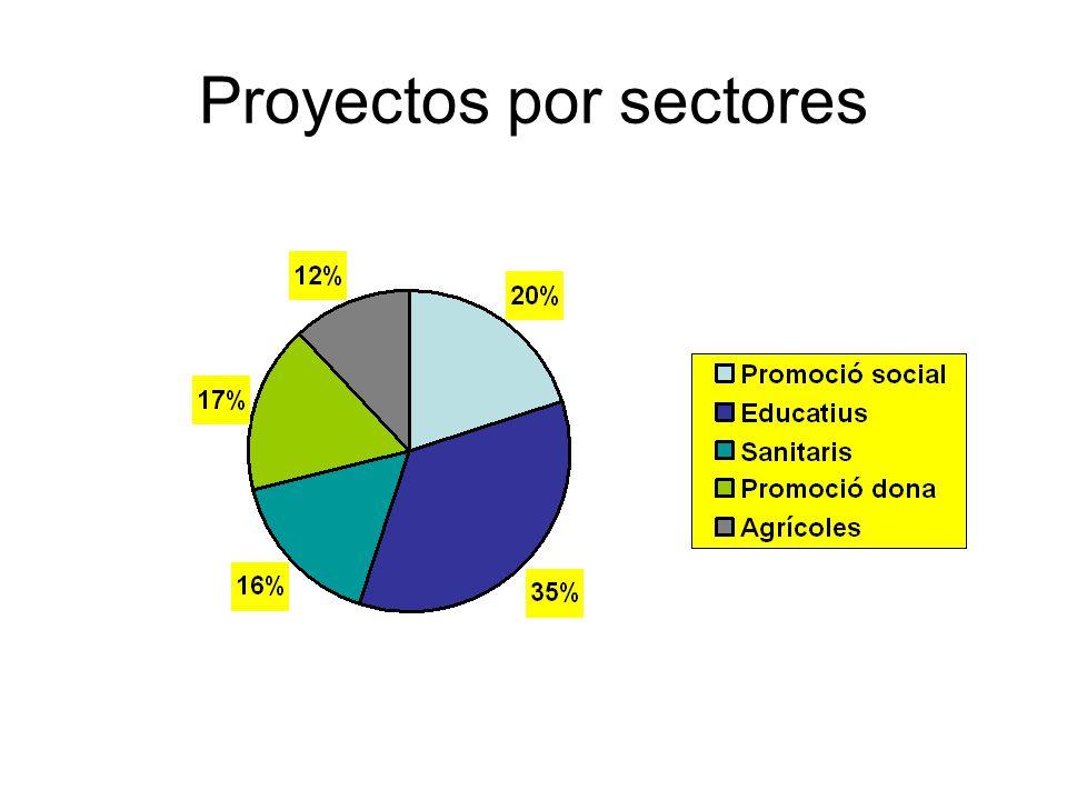 Proyectos por sectores