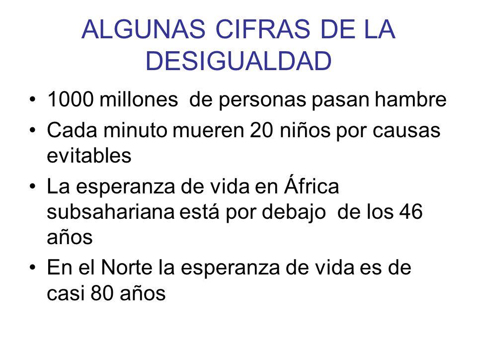 ALGUNAS CIFRAS DE LA DESIGUALDAD