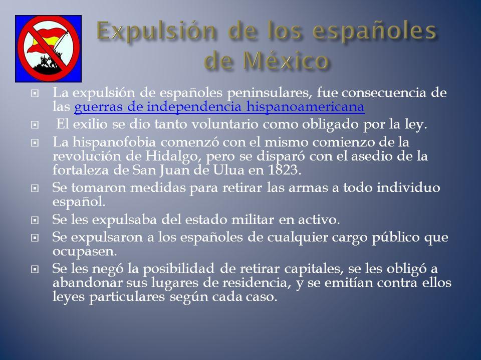 Expulsión de los españoles de México