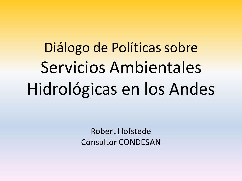 Robert Hofstede Consultor CONDESAN