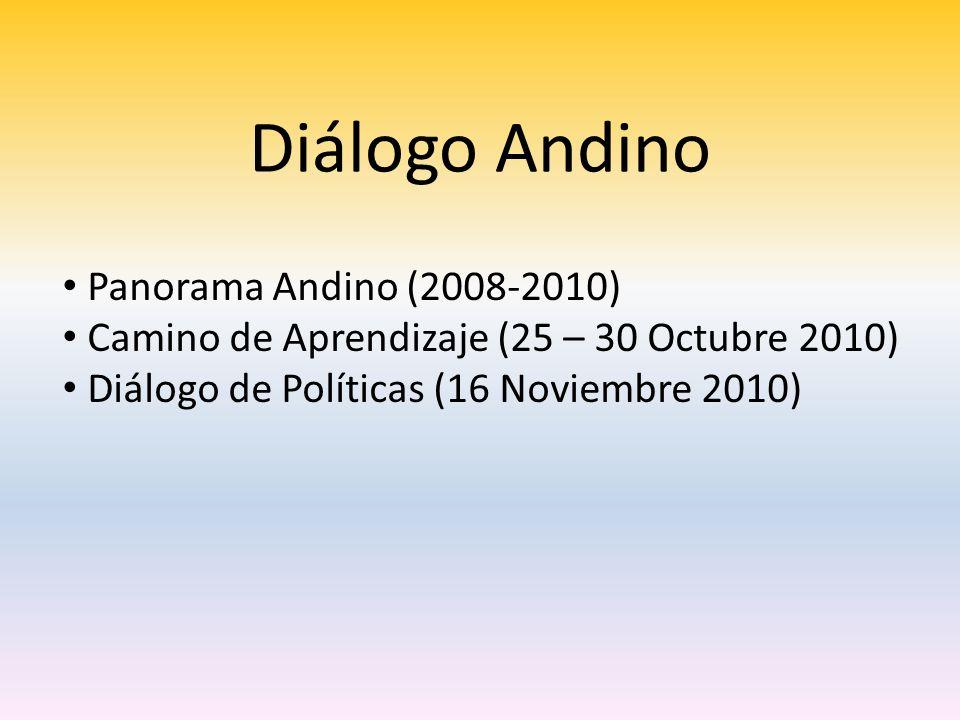 Diálogo Andino Panorama Andino (2008-2010)