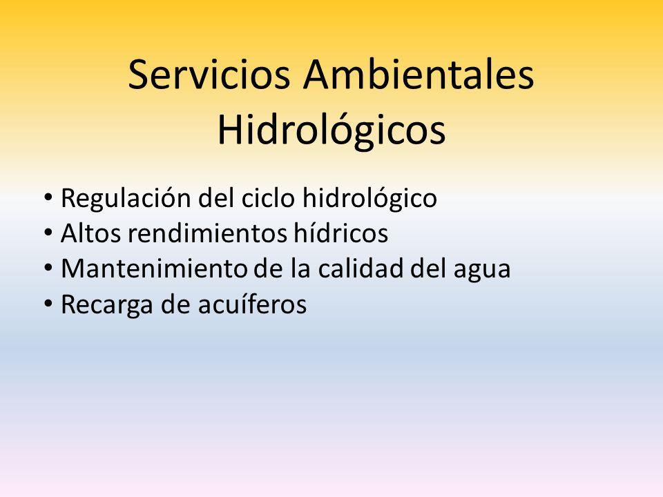 Servicios Ambientales Hidrológicos