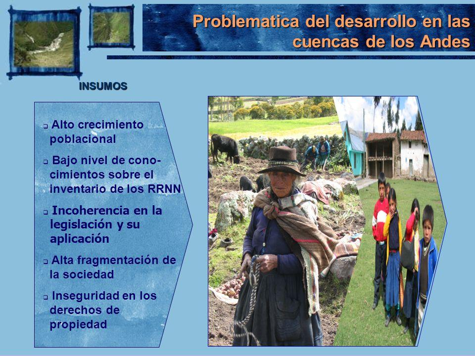 Problematica del desarrollo en las cuencas de los Andes