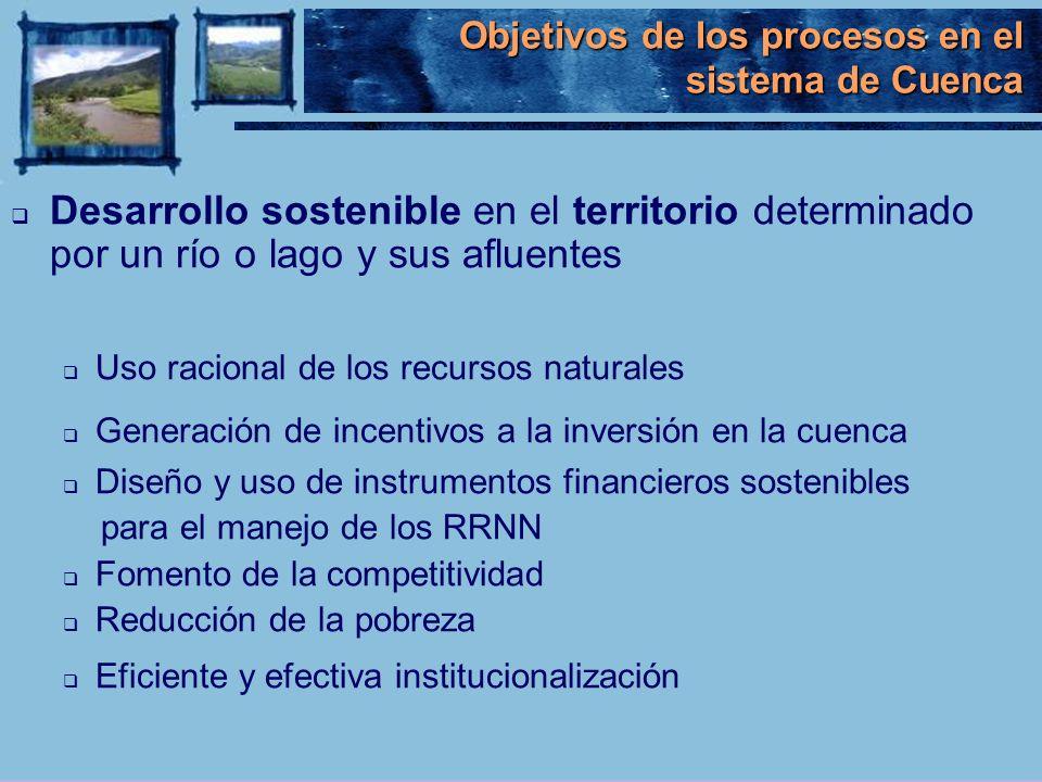 Objetivos de los procesos en el sistema de Cuenca