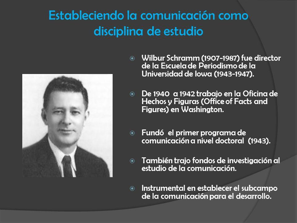 Estableciendo la comunicación como disciplina de estudio