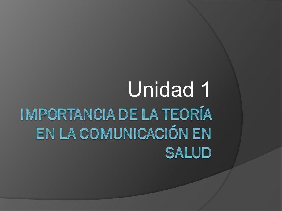 Importancia de la teoría en la comunicación en salud