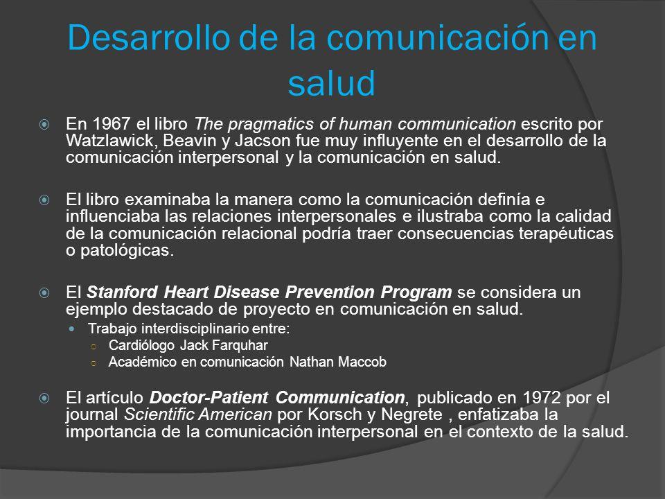 Desarrollo de la comunicación en salud