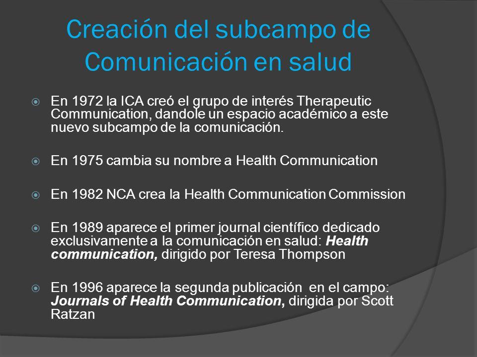 Creación del subcampo de Comunicación en salud