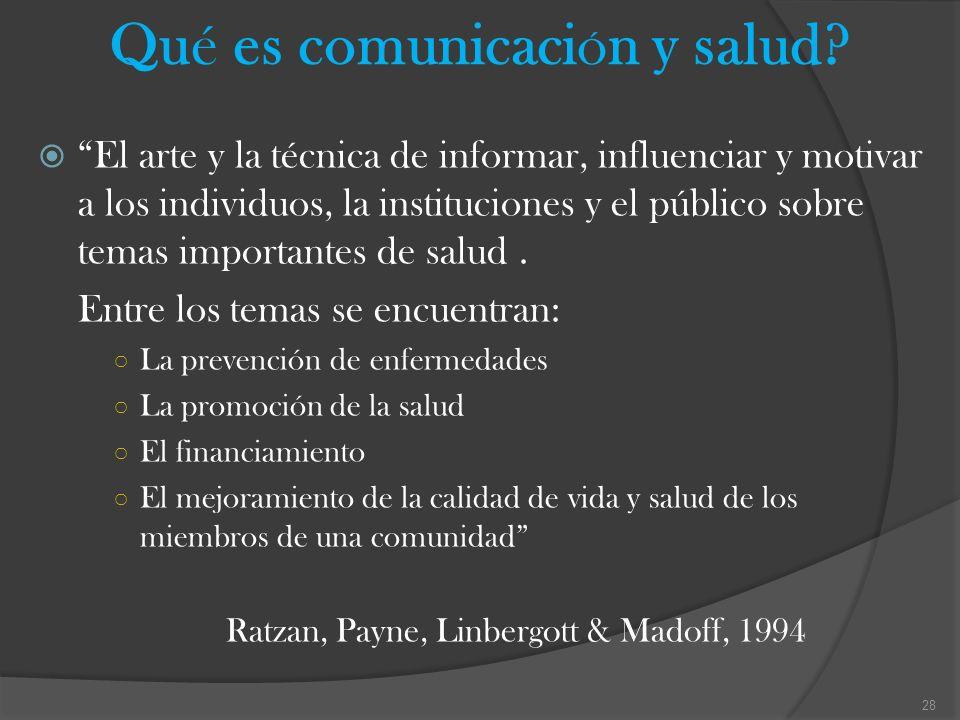 Qué es comunicaciÓn y salud
