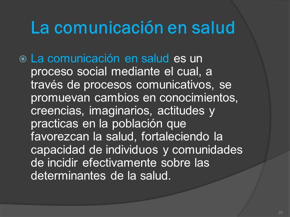 La comunicación en salud