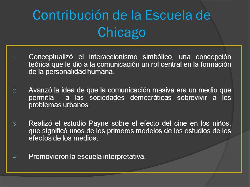 Contribución de la Escuela de Chicago