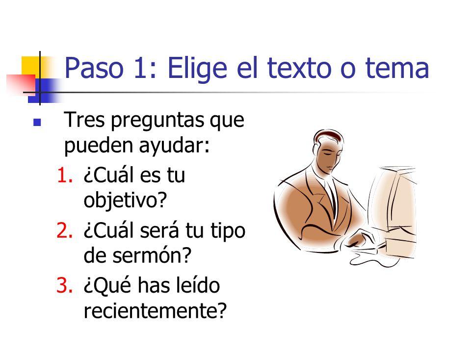 Paso 1: Elige el texto o tema