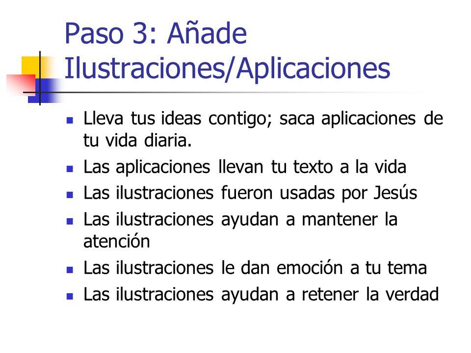 Paso 3: Añade Ilustraciones/Aplicaciones