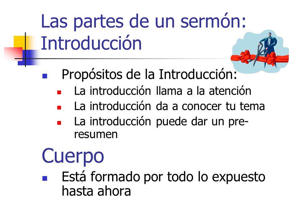 Las partes de un sermón: Introducción