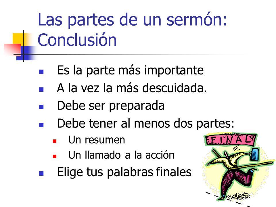 Las partes de un sermón: Conclusión