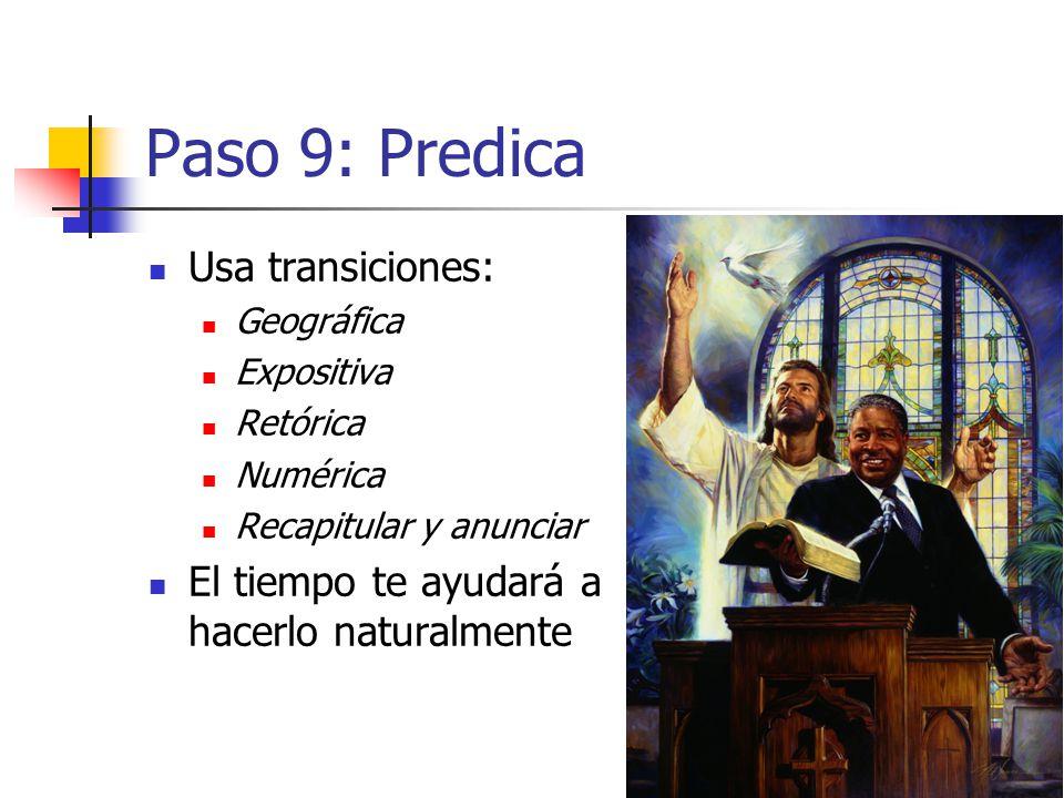 Paso 9: Predica Usa transiciones: