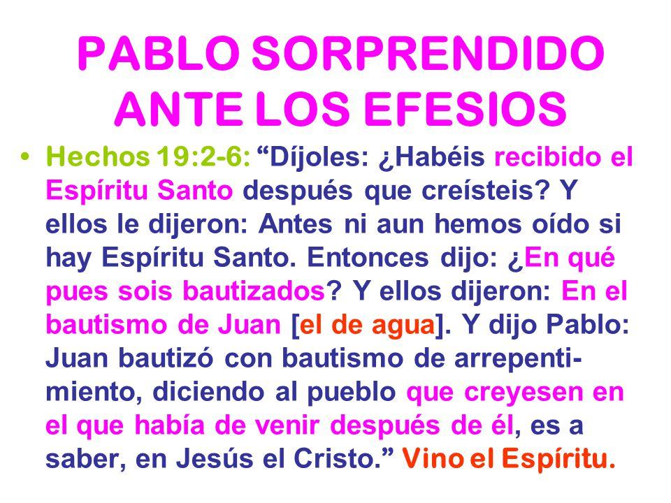 PABLO SORPRENDIDO ANTE LOS EFESIOS