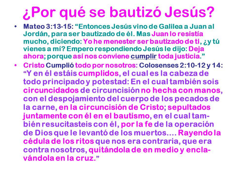 ¿Por qué se bautizó Jesús