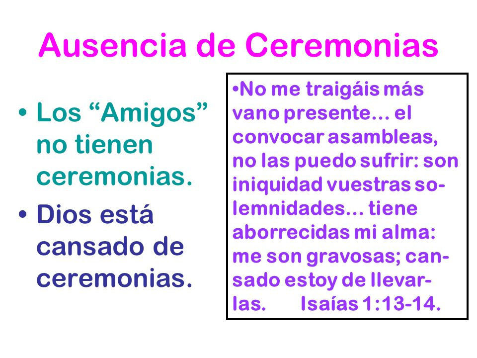 Ausencia de Ceremonias