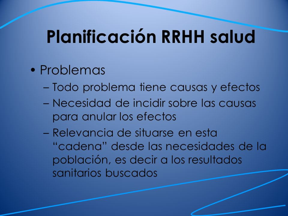 Planificación RRHH salud