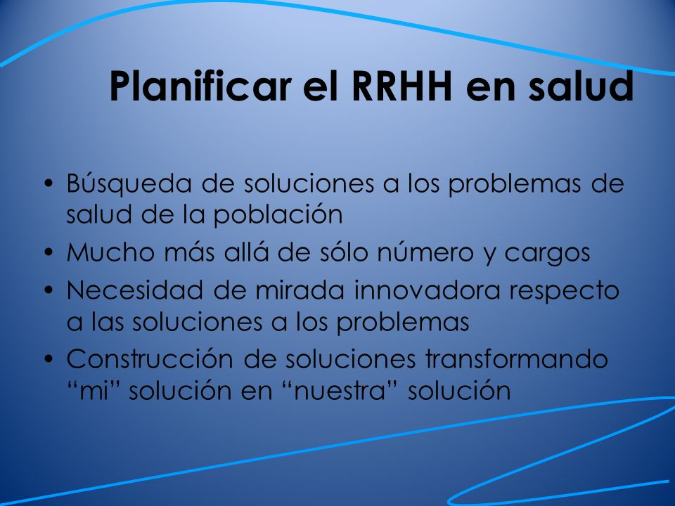 Planificar el RRHH en salud