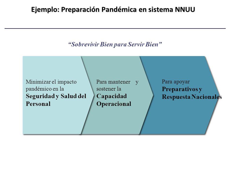 Ejemplo: Preparación Pandémica en sistema NNUU