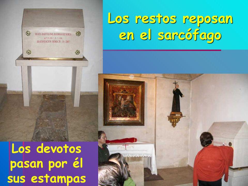 Los restos reposan en el sarcófago