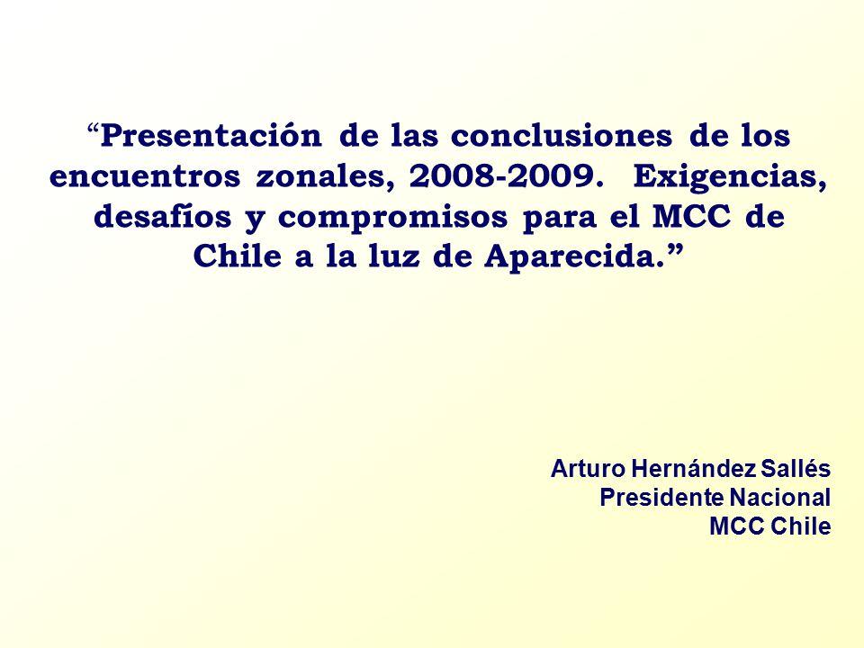 Presentación de las conclusiones de los encuentros zonales, 2008-2009