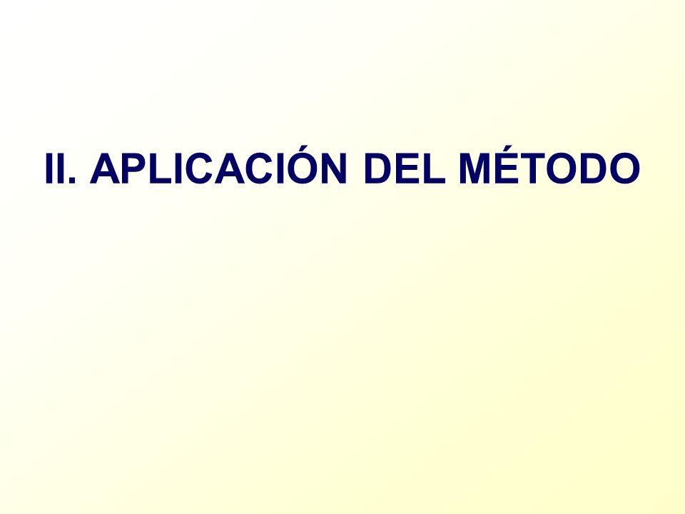 II. APLICACIÓN DEL MÉTODO