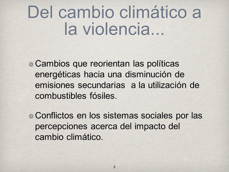 Del cambio climático a la violencia...