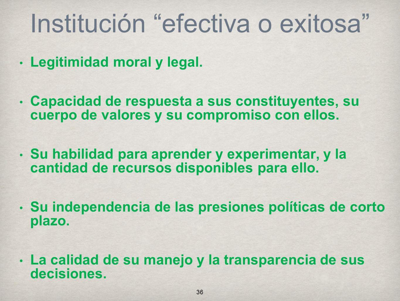 Institución efectiva o exitosa