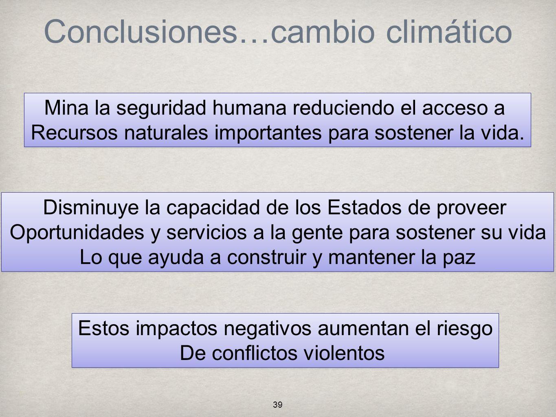 Conclusiones…cambio climático