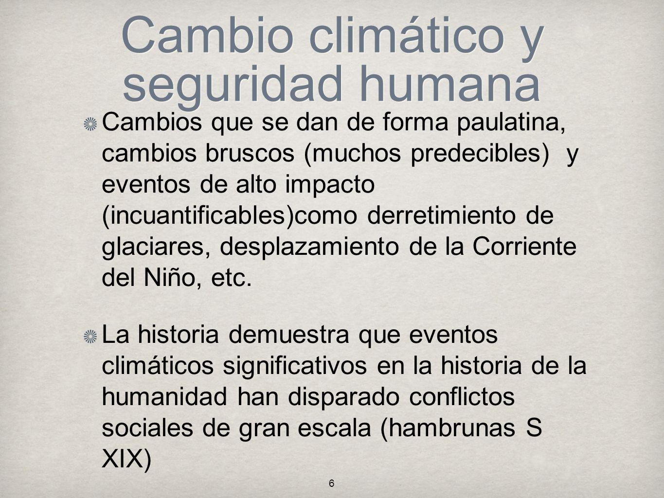 Cambio climático y seguridad humana