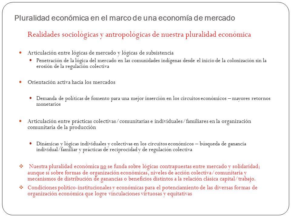 Pluralidad económica en el marco de una economía de mercado