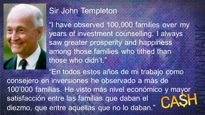 Sir John Templeton Sir John Templeton.